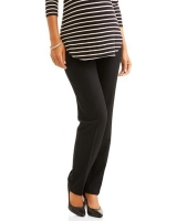 Maternity Full-Panel Straight Leg Career Pants - Black