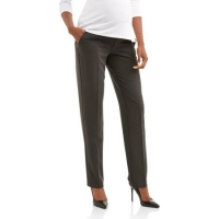 Maternity Full-Panel Straight Leg Career Pants - Charcoal