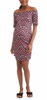 Maternity Off-the-Shoulder Printed Jersey Dress