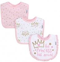 Gerber 3pk Terry Dribbler Bib - Girl - Princess