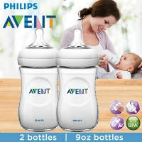 Twin Pack Philips Avent 2 Pack Bottles 9 oz