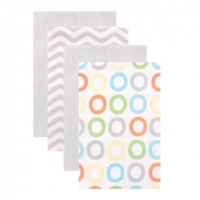 BABY BURP CLOTHS, 4-PACK