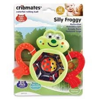 CRIBMATES RATTLE, SILLY FROGGY