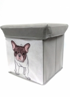 Foldable Storage Stool -Dog