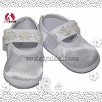 White Fabric Shoes - Newborn