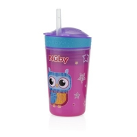 Nuby 1pk Snack N' Sip 2 in 1 Snack and Drink Cup