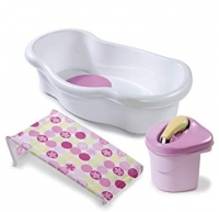 Summer Infant Newborn to Toddler Bath Center & Shower, Pink