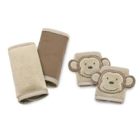 Duo Car Seat Strap Cover, Brown