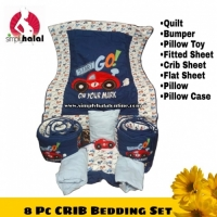 8 Pc Crib Bumper & Bedding Set