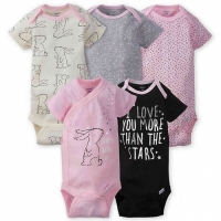 Gerber 5-pack Girls Fox Onesies® Brand Short Sleeve Bodysuits - Bunny