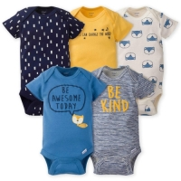Gerber 5-Pack Newborn Boys' Fox Onesies