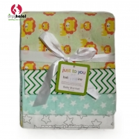 4-Pack Flannel Receiving Blanket Set
