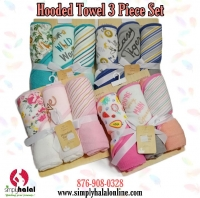 3 Pk Hooded Towels