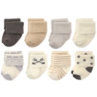 Terry Cotton Socks, 8 Pack, Aztec