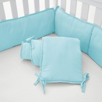 4-Piece Baby Safe Crib Bumper Pads for Standard Cribs