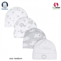Gerber® 4-Pack Baby Neutral Sheep Caps