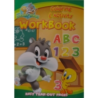Looney Tunes Coloring & Activity Workbook ABC 123
