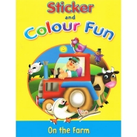 Sticker and Colour Fun Book - On the Farm