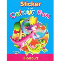 Sticker and Colour Fun Book - Dinosaurs