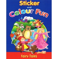Sticker and Colour Fun Book - Fairy Tales