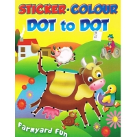 Sticker.Colour - Dot to Dot - Farmyard Fun Book