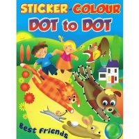 Sticker.Colour - Dot to Dot - Best Friends Book