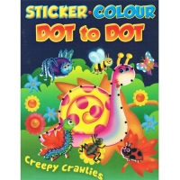 Sticker.Colour - Dot to Dot - Creepy Crawlies Book