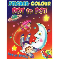 Sticker.Colour - Dot to Dot - Out in Space Book