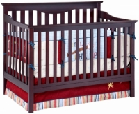 Harlow 4 In 1 Convertible Crib - Expresso Cherry (Mattress included)