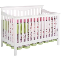 Harlow 4 In 1 Convertible Crib - White (Mattress included)