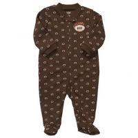 "Carter's Boys ""Daddy's MVP"" Zip Footed Coverall"