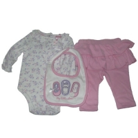 Baby Headquarters 3�??pc. Bodysuit, Bib & Pants Set - My Little Shoes