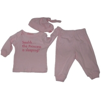 3 Pc Baby Outfit - Sssshh ...the Princess is sleeping !