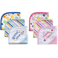 3-Pack Embroidered Sayings Hooded Towels