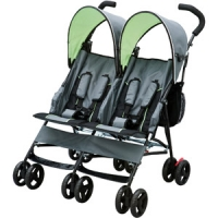Delta - LX Side by Side Stroller, Lime Green