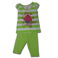Girl's Legging Sets - Cute Cupcake