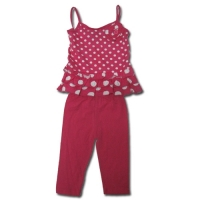 Girl's Polka Dot Leggings Outfit