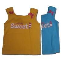 Girl's Sleeveless Top - Totally Sweet (Assorted Colours)